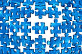 Water puzzle abstract background blue — Stock Photo