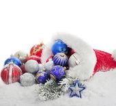 クリスマスつまらないもの、サンタ クロースの帽子のギフト — ストック写真