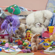 Messy kids room with toys - Foto Stock