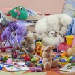 Messy kids room with toys - Stock Photo
