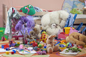 Messy kids room with toys — Stock Photo