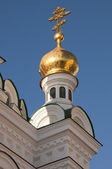 Golden dome of the оrthodox сhurch — Stock Photo