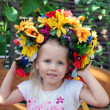 Young girl in a wreath — Stock Photo
