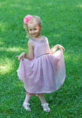 Young girl in a beautiful dress — Stock Photo