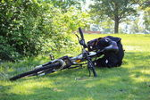 Bike in park — Stock Photo