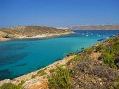 The Blue Lagoon in Comino - Malta — Stockfoto