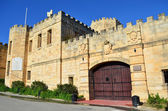 Ett gammalt medeltida slott i malta — Stockfoto