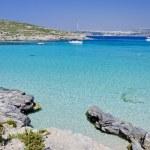 蓝色礁湖-科米诺、 马耳他 — 图库照片