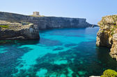 Crystal Lagoon in Comino — Stock Photo
