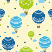 Background with hot air balloons — Stock Vector