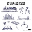 Business, finance and transportation icon set — Stock Vector