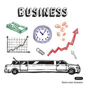 Business and finance icon set — Vector de stock