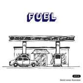 Fuel station — Stock Vector