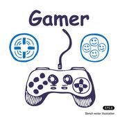 Gamepad e multiplicar os ícones — Vetorial Stock