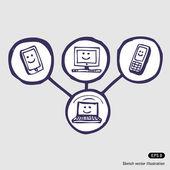 Internet community icon set — Stock Vector