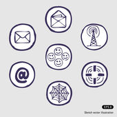 Internet devices icon set — Stock Vector