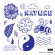 Royalty-Free Stock Vector Image: Nature icons set