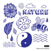 Nature icons set — Stock Vector