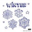 Snowflakes and stars — Stock Vector