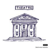 Theatre building — Stock Vector