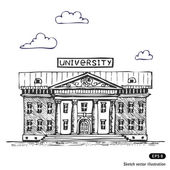 University building — Vettoriale Stock