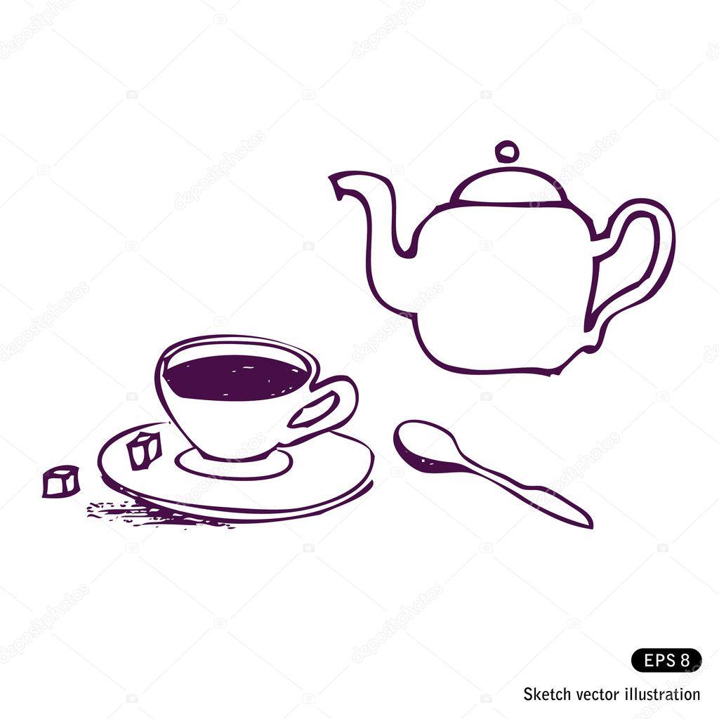 Tea cup kettle