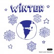 Stock Vector: Winter Earth
