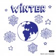 Winter Earth — Stock Vector