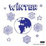 Winter Earth — Stock Vector