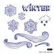 Winter elements set — Stock Vector