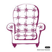 Vintage chair — Stock Vector