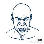 Angry man — Stock Vector