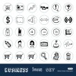 Business and media web icons set — Stock vektor