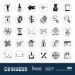 Royalty-Free Stock Vector Image: Business, shopping and work web icons set