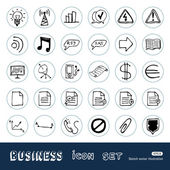 Business and media web icons set — Stock Vector
