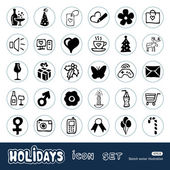 Christmas and other holidays web icons set — Stock Vector