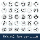 Doodle Internet web icons set — Stock Vector