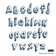 Royalty-Free Stock Vector Image: Hand-drawn alphabet