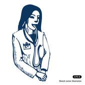Female doctor — Wektor stockowy