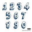 Hand-drawn numbers — Stock Vector
