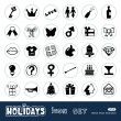 Holidays and celebration web icons set — Stock Vector #11358170
