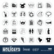 Holidays and celebration web icons set — Stock Vector