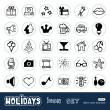Holidays and celebration web icons set — Stock Vector #11358202