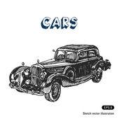 Stary samochód — Wektor stockowy