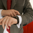 A man to consult one's watch — Stockfoto
