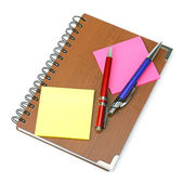 Notepad and pens. — Stock Photo