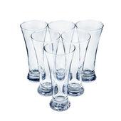 Set of glasses on white background — Foto de Stock