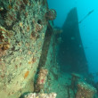 Stern of the Thistlegorm wreck. — Stock Photo