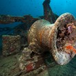Stock Photo: Anchor winch of the Thistlegorm.