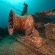 Anchor winch of the Thistlegorm. — Stock Photo #10773430